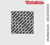 parquet floor icon isolated... | Shutterstock .eps vector #1011433231