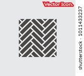 parquet floor icon isolated... | Shutterstock .eps vector #1011433237