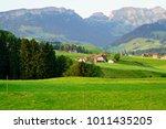 beautiful appenzell village in...   Shutterstock . vector #1011435205