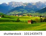 beautiful appenzell village in...   Shutterstock . vector #1011435475