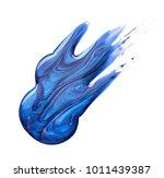 nail polish of dark blue... | Shutterstock . vector #1011439387