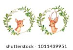 wreaths and design elements... | Shutterstock . vector #1011439951