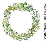 wreaths and design elements...   Shutterstock . vector #1011439957