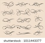 set of elegant decorative... | Shutterstock .eps vector #1011443377