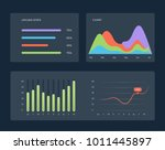 flat dashboard  set of ui web...