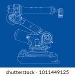 industrial robot manipulator.... | Shutterstock .eps vector #1011449125