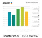 five columns bar chart slide... | Shutterstock .eps vector #1011450457
