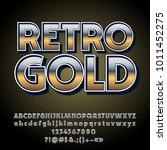 vector gradient retro styled... | Shutterstock .eps vector #1011452275
