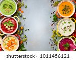 variety of colorful vegetables... | Shutterstock . vector #1011456121