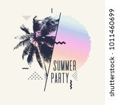 summer party  modern poster... | Shutterstock .eps vector #1011460699