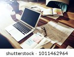 interior of a table in an... | Shutterstock . vector #1011462964