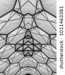 abstract metal work symmetry... | Shutterstock . vector #1011463381