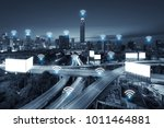 wifi network business conection ...   Shutterstock . vector #1011464881