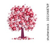 happy valentine's day tree with ...   Shutterstock .eps vector #1011468769