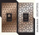 luxury cards. vector menu... | Shutterstock .eps vector #1011472921