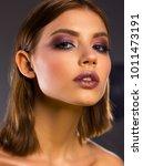 close up portrait. bright... | Shutterstock . vector #1011473191