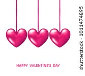 valentines day  background with ... | Shutterstock .eps vector #1011474895