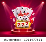 casino dice and poker slots... | Shutterstock .eps vector #1011477511
