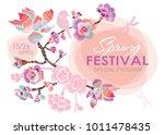 spring festival. blossoming... | Shutterstock .eps vector #1011478435