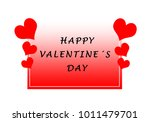 happy red valentines card with... | Shutterstock . vector #1011479701