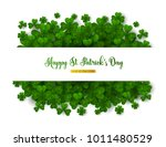 saint patrick's day greeting... | Shutterstock .eps vector #1011480529