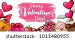 valentines day sale horizontal... | Shutterstock .eps vector #1011480955