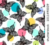 seamless pattern with... | Shutterstock .eps vector #1011490039