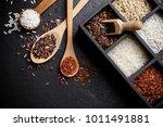 organic white rice  white rice  ...   Shutterstock . vector #1011491881