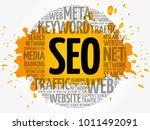 seo  search engine optimization ...   Shutterstock .eps vector #1011492091