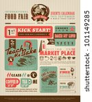 retro food advertisement layout ... | Shutterstock .eps vector #101149285