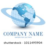 logo earth globe  blue planet... | Shutterstock .eps vector #1011495904