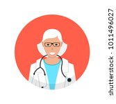 medical doctor profile icon.... | Shutterstock .eps vector #1011496027