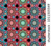 vector seamless pattern ethnic... | Shutterstock .eps vector #1011505549