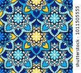 vector seamless pattern ethnic... | Shutterstock .eps vector #1011505555