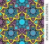 vector seamless pattern ethnic... | Shutterstock .eps vector #1011505561