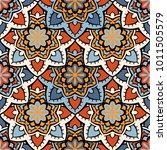 vector seamless pattern ethnic... | Shutterstock .eps vector #1011505579