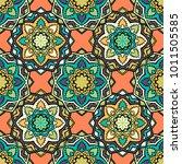 vector seamless pattern ethnic... | Shutterstock .eps vector #1011505585