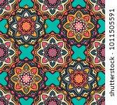 vector seamless pattern ethnic... | Shutterstock .eps vector #1011505591