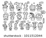 freehand vector drawing  cute... | Shutterstock .eps vector #1011512044