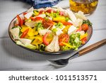 salad with cheese and fresh... | Shutterstock . vector #1011513571