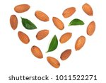 almonds in the shape of a heart ... | Shutterstock . vector #1011522271