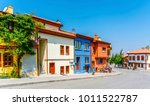 colorful old odunpazari streets ... | Shutterstock . vector #1011522787