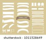 illustration material of ribbon | Shutterstock .eps vector #1011528649