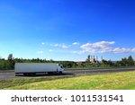 truck transportation on the road   Shutterstock . vector #1011531541