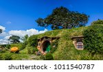 In little Hobbit town, Matamata New Zealand
