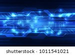 vector abstract futuristic... | Shutterstock .eps vector #1011541021