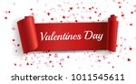 realistic curved paper banner... | Shutterstock .eps vector #1011545611