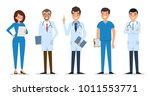 medical characters flat people. ... | Shutterstock .eps vector #1011553771