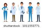 set of doktor character design. | Shutterstock .eps vector #1011553771
