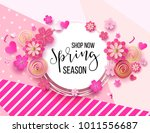 spring season sale offer ... | Shutterstock .eps vector #1011556687